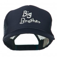 Big Brother Embroidered Youth Foam Mesh Cap - Navy