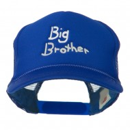 Big Brother Embroidered Youth Foam Mesh Cap - Royal