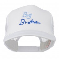 Big Brother Embroidered Youth Foam Mesh Cap - White