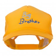 Big Brother Embroidered Youth Foam Mesh Cap - Gold