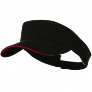 Brushed Cotton Sandwich Visor - Black