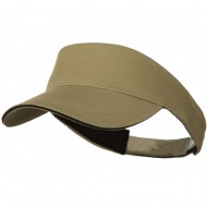Brushed Cotton Sandwich Visor - Khaki Black