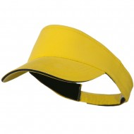 Brushed Cotton Sandwich Visor - Yellow Navy