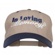 In Loving Memory Embroidered Pro Style Cap - Khaki Navy
