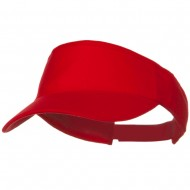 Brushed Bull Denim Sun Visor - Red