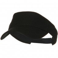 Brushed Bull Denim Sun Visor - Black