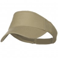 Brushed Bull Denim Sun Visor - Khaki