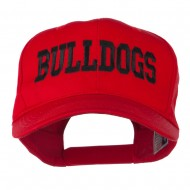 Sports Team Bulldogs Embroidered Cap - Red