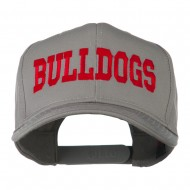 Sports Team Bulldogs Embroidered Cap - Grey