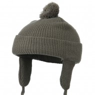 Toddler Beanie Hat with Ear Flaps - Charcoal