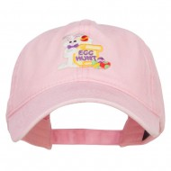 Easter Bunny Egg Patched Washed Cap - Pink