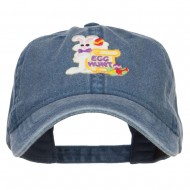Easter Bunny Egg Patched Washed Cap - Navy
