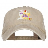 Easter Bunny Egg Patched Washed Cap - Khaki