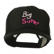 Big Sister Embroidered Youth Foam Mesh Cap - Black