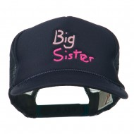 Big Sister Embroidered Youth Foam Mesh Cap - Navy