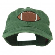Big Size Football Embroidered Washed Cap - Dark Green