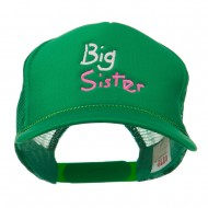 Big Sister Embroidered Youth Foam Mesh Cap - Kelly