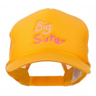 Big Sister Embroidered Youth Foam Mesh Cap - Gold