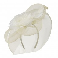 Big Flower Fashionable Headband - Ivory