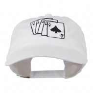 Bridge Hand Embroidered Washed Cap - White