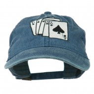 Bridge Hand Embroidered Washed Cap - Navy