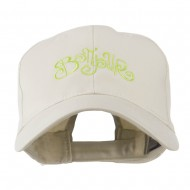 Bonjour French Embroidered Cap - Stone