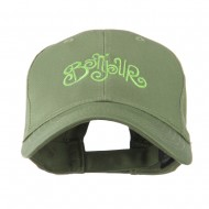 Bonjour French Embroidered Cap - Olive