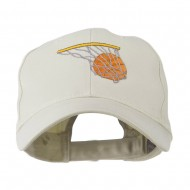 Basketball in Net Embroidered Cap - Stone