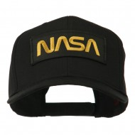 Black NASA Embroidered Patched High Profile Cap - Black