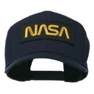 Black NASA Embroidered Patched High Profile Cap - Navy