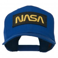 Black NASA Embroidered Patched High Profile Cap - Royal