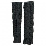 Women's Cable Long Arm Warmer - Grey