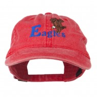 Blue Eagles Embroidered Washed Cap - Red