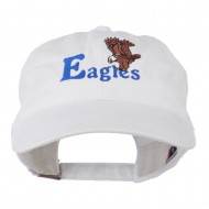 Blue Eagles Embroidered Washed Cap - White