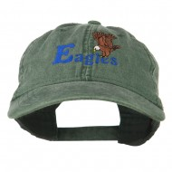 Blue Eagles Embroidered Washed Cap - Dark Green