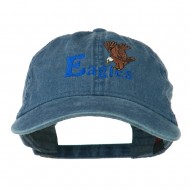 Blue Eagles Embroidered Washed Cap - Navy