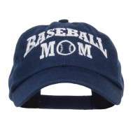 Baseball Mom Embroidered Low Profile Cap - Navy