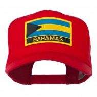 Bahamas Flag Patched High Profile Cap - Red