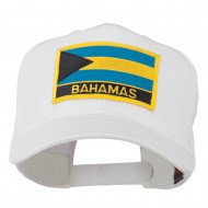 Bahamas Flag Patched High Profile Cap - White