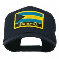 Bahamas Flag Patched High Profile Cap - Navy