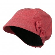 Polly Bow Newsboy Hat - Coral