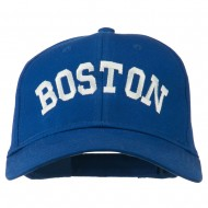 Boston Embroidered Solid Cotton Twill Cap - Royal