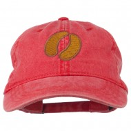 Bison Hoof Mascot Embroidered Washed Dyed Cap - Red