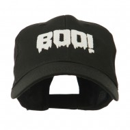 Halloween Boo Sign Embroidered Cap - Black