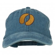 Bison Hoof Mascot Embroidered Washed Dyed Cap - Navy