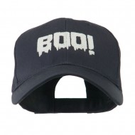 Halloween Boo Sign Embroidered Cap - Navy