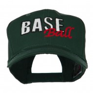 Baseball Outline Embroidered Cap - Green