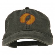 Bison Hoof Mascot Embroidered Washed Dyed Cap - Black