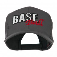 Baseball Outline Embroidered Cap - Charcoal Grey