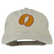 Bison Hoof Mascot Embroidered Washed Dyed Cap - Stone
